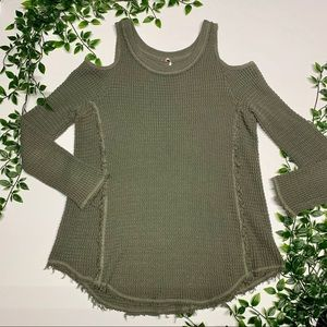 Free People Cold Shoulder Sweater (XS)